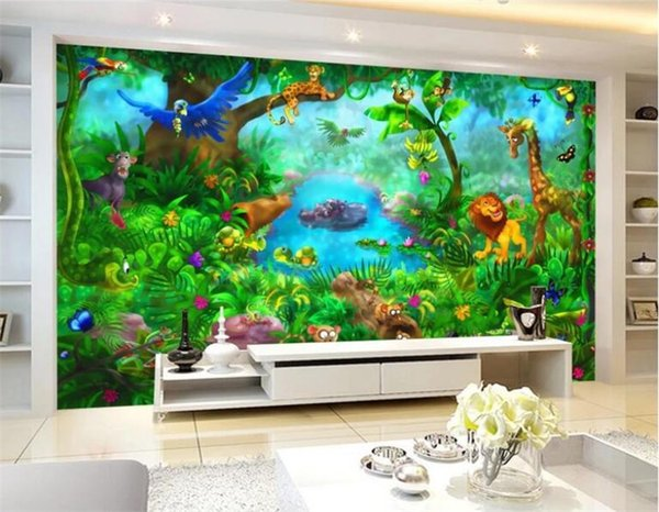 3D Carton Wall Mural Photo Wallpaper for Kids Bedroom Living Room Wall Paper Sticker papel de parede para sala Custom Size