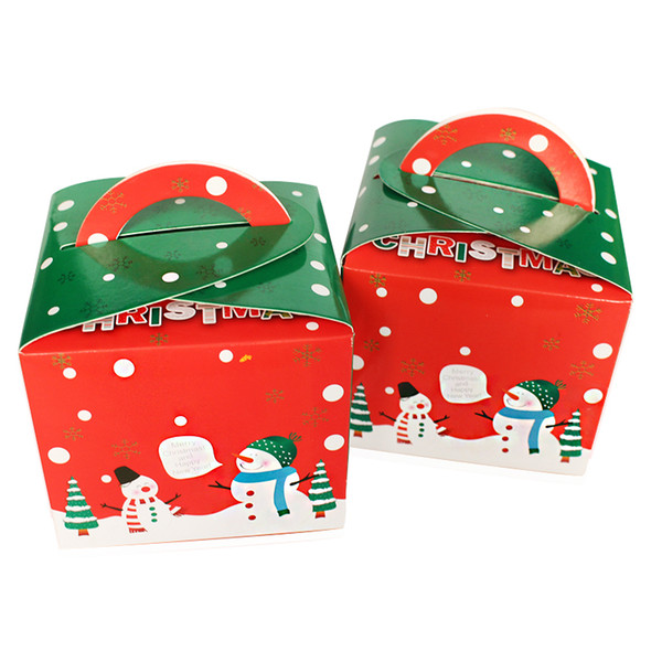 12pcs Christmas Red Pudding Bottle Cupcake Muffin Cake Box Bakery Gift Packing Boxes Party Supply Favors