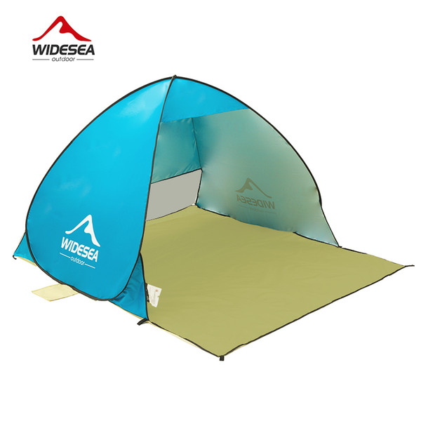 2018 Beach Tent Pop Up Open 1-2 Person Quick Automatic Open 90% Uv Protective Sun Shelter Awning Tent for Camping Fishing Equipment
