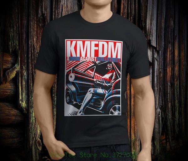 1e8132319 New Popular Kmfdm A Discount Wholesale Against War Men's Black T-shirt Size  S -
