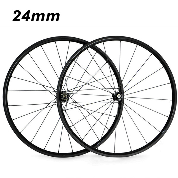 700C 24mm Clincher Tubular 23mm Width 3K Carbon Wheels Road Bike Bicycle Wheel Racing Touring Wheelset