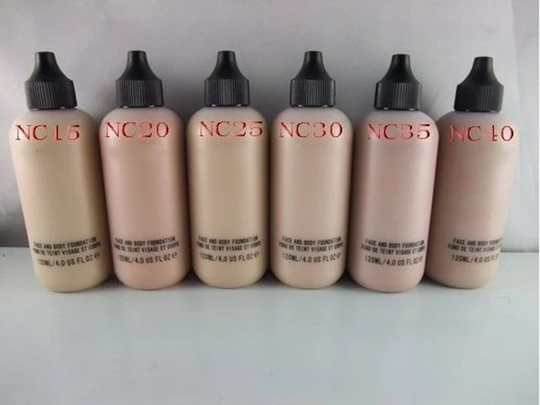 HOT Face And Body Makeup Liquid Foundation Fond De Teint Brand cosmetic 6 colors Concealer 120ml DHL Free Shipping