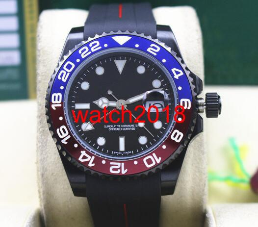 Высокое качество роскошные часы II 116719 BLRO PVD покрытие красный синий керамический безель резиновый браслет 40 мм автоматические механические мужские часы новое прибытие