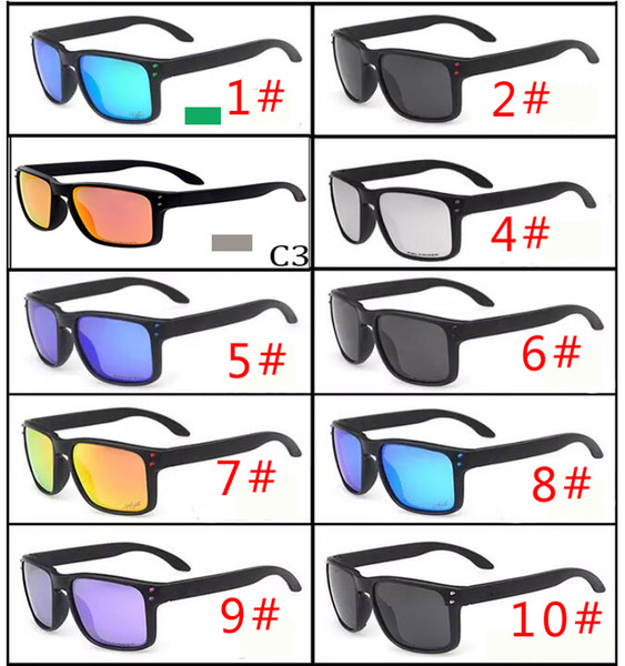 MOQ=10pcs HOT SALE Brand man and woman Polarized Sunglasses Men Women Sport Cycling Glasses Goggles Eyewear VR46 gasses 10 color free ship