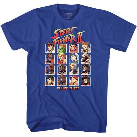 Street Fighter 2 Lecteur de jeux vidéo Capcom Select Adulte T-shirt