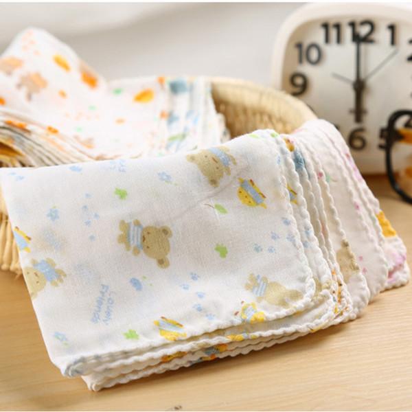 10PCS Baby Feeding Towel Teddy Bear Bunny Dot Chart Printed Children Small Handkerchief Gauze Towels Nursing Towel