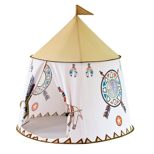 Indian Style Portable Princess Castle Play Tent Children Indian Teepee Tent Indoor and Outdoor Children's Tent Playhouses for Kids