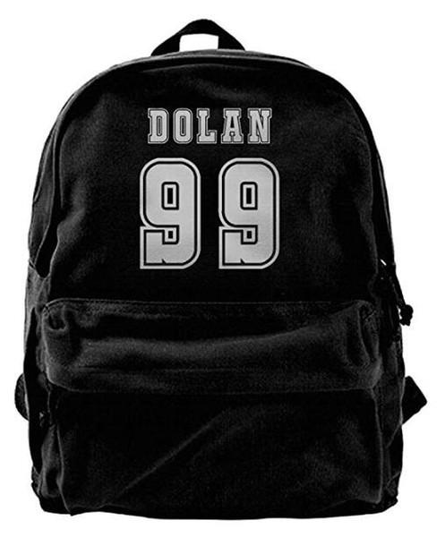 Dolan Twins Canvas Shoulder Backpack Funny Travel Backpack For Men & Women Teens College Travel Daypack Black