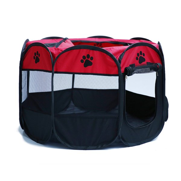 Mix and Match Welcome ACI-467 Portable Folding Pet tent Dog House Cage Dog Cat Tent Playpen Puppy Kennel Easy Operation Octagonal Fence outd