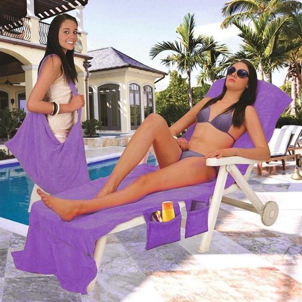 DHL Lounger Mate Beach Towel Microfiber Bed Holiday Garden Towel 73*210CM Sunbath Portable Garden Chair Cover Towel Beach LC769-1
