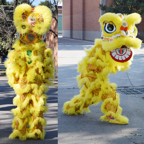 China Southern Lion Dance Mascot Costume For Children 7 to 12 years old Children's Toy in Halloween Birthday Party