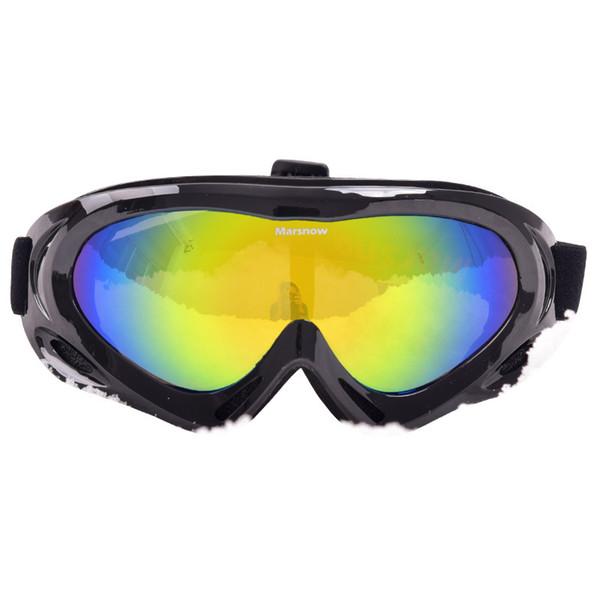 Esqui À Prova de Vento Anti-fog Óculos de Neve Óculos de Ciclismo Esqui  Óculos 4e5a7f3bdc