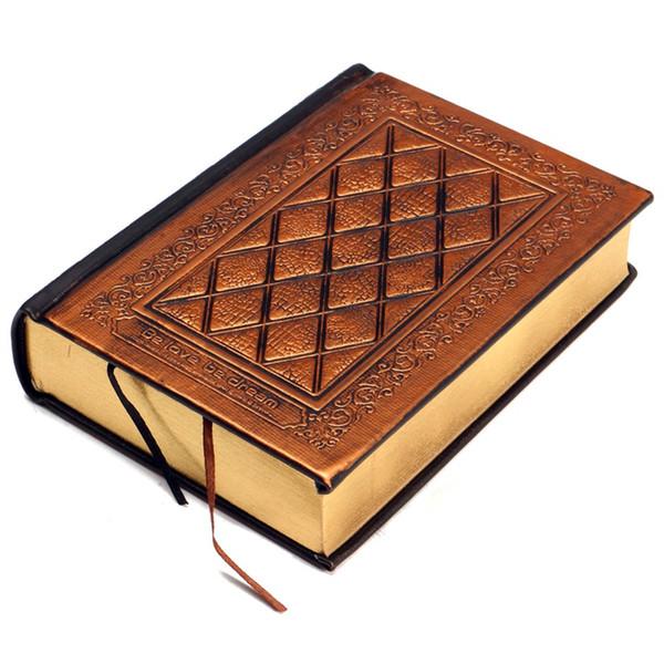 1 pcs Marque Nouveau Rétro Vintage Journal Journal Portable En Cuir Vierges Couverture Rigide Sketchbook Papier Voyage Journal Blank Papier À Lettres