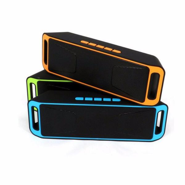 NOUVELLE Arrivée SC-208 Mini Portable Haut-parleurs Bluetooth Sans Fil Haut-Parleur Mains Libres Grande Puissance Subwoofer Support TF et USB Radio FM