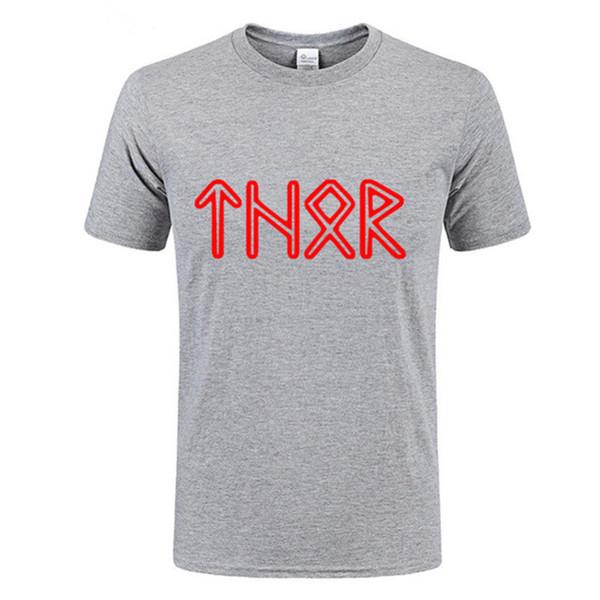 Ropa barata de China Floki los vikingos Ragnar Lothbrook rollo norse thor thor lagertha negro camiseta Viking Thor camisetas hombres cómodos