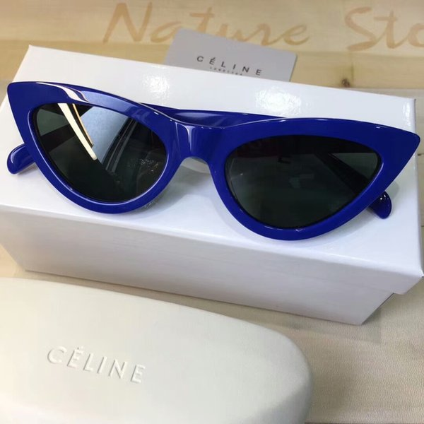 0ffa7779ea Women 40019/S cat eye Sunglasses Blue Frame gafas de sol Designer  Sunglasses Sun glasses