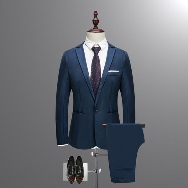 Custom fashion classic men's suit two-piece suit (jacket + pants) men's business formal suit wedding groom dress