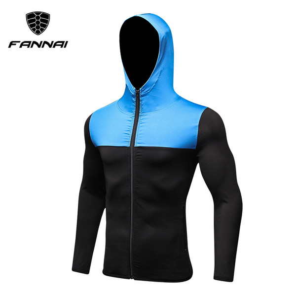 En gros-Marque Running Jacket Hommes respirant séchage rapide en cours d'exécution en jersey coupe-vent manteau Sports de plein air randonnée Run Run Hooded