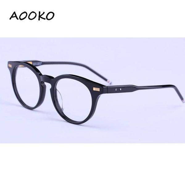top popular Wholesale-Hot Sunglasses Frames TB-404 plank frame glasses frame restoring ancient ways oculos de grau men and women myopia eyeglasses frame 2019