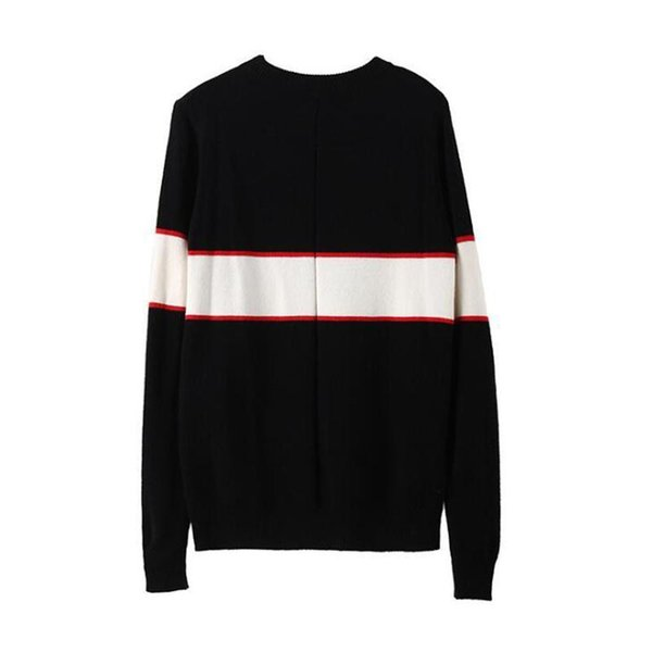 Black luxury brand sweaters for men fashion long sleeve letter print couple sweaters autumn loose pullover sweaters for women free shipping