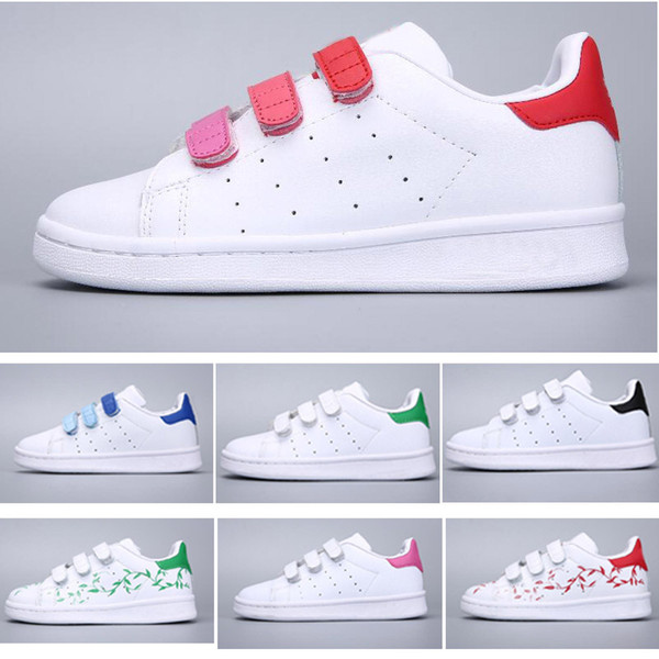 Acheter 2018 Adidas Stan Smith Superstar Chaussures Enfants Superstar Original Blanc Or Bébé Enfants Superstars Sneakers Originals Super Star Filles