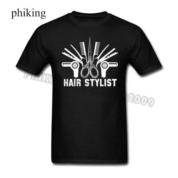 T Shirt Lowest Price 100% Cotton Crew Neck Hair Stylist Hairstylist Short-Sleeve Wholesale Mens Tee Shirts