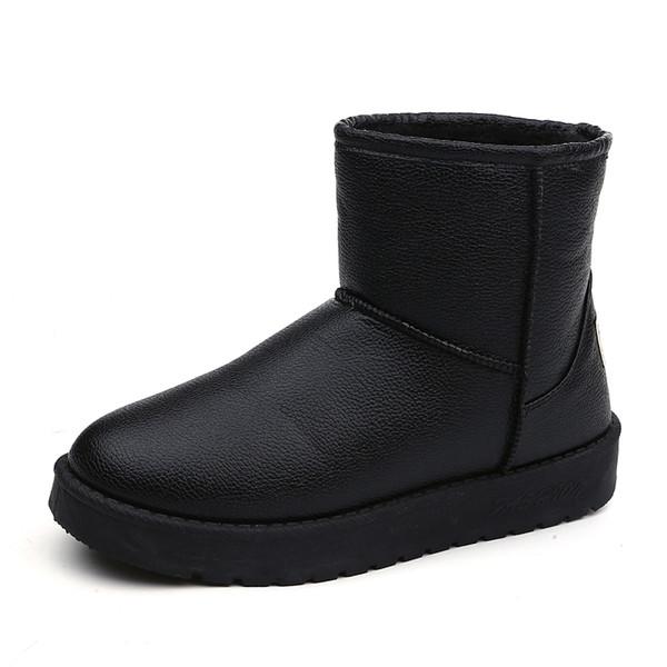 2018 Winter warm non-slip short tube snow boots female thickening plus velvet flat boots size 35-40