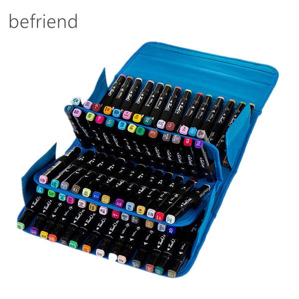 Schreibwaren art marker stift taschen malerei box mark stift tasche skizze werkzeuge aufbewahrungstasche organizer 80 loch federmäppchen groß