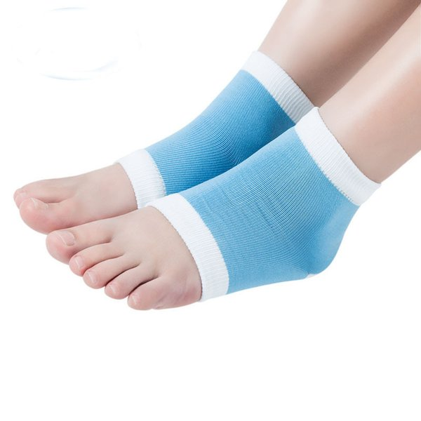 1 Pair Yoga Socks Heel Socks for Dry Hard Cracked Skin Moisturising Open Toe Recovery Skin Protector Foot Care for Women
