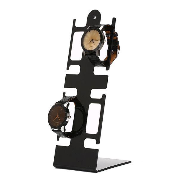 Portable Watch Storage Box Case Bracelet Display Plastic Stand 4-Holder Rack General Showcase Shelf Watch Box Jewelry Decoration