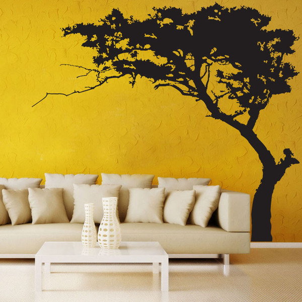 Wholesale 5 Designs Big Tree Pattern Wall Stickers Wallpaper Paper Peint 3d Home Decor Bathroom Kitchen Accessories Household Suppllies