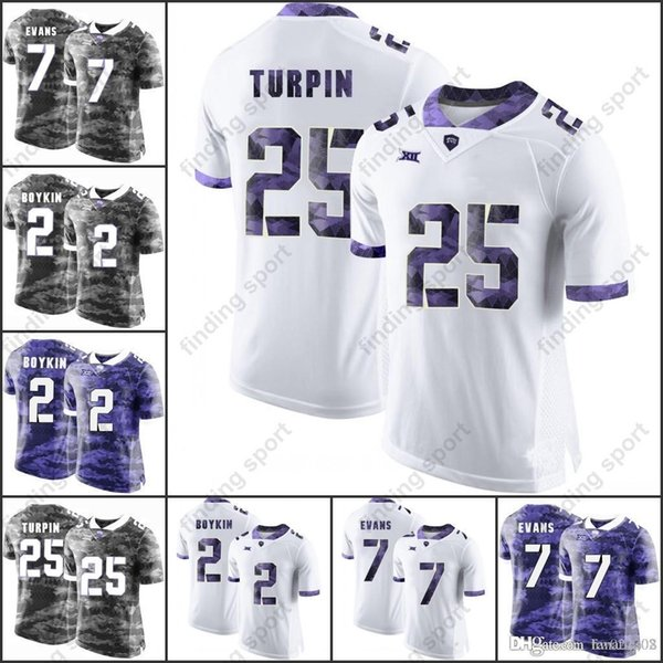 brand new 4a8df 97abc 2019 NCAA TCU Horned Frogs College Football Jerseys 26 Derrick Kindred 30  Denzel Johnson 20 Deante Gray 69 Aviante Collins 22 Aaron Green From ...