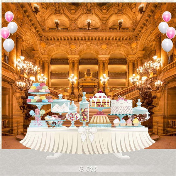 Birthday Party Photography Backdrop Fairy Tale Princess Beast Castle Indoor Staircase Candle Light Children Photo Background