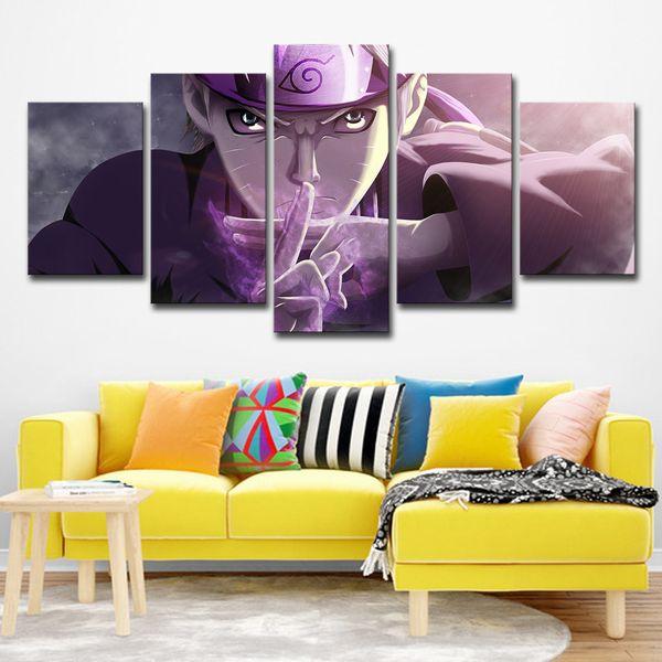 5 Panneau Toile Art HD Imprimé Naruto Shippuuden Modulaire Image Peinture Toile Mur Art Décoration de La Maison Salon Impression Sur Toile
