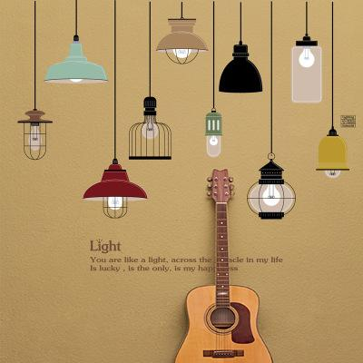 Wholesale Creative Hanging Lighting Wall Stickers Wallpaper Paper Peint 3d Home Decor Bathroom Kitchen Accessories Household Suppllies