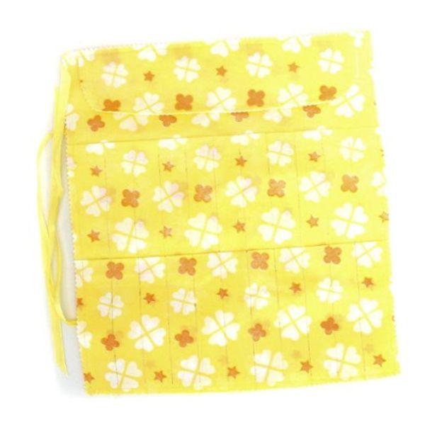 GSFY!22 Slots Circular Knitting Crochet Needle Hook Organizer Bag Holder Case Pouch Flower Print