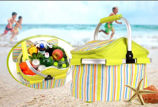 Portable Folding Picnic Basket Waterproof Mini Traveling Fridge Drink Food Cooler Warmer Box Fruit Fresh-keeping Car Incubator Ice Bags