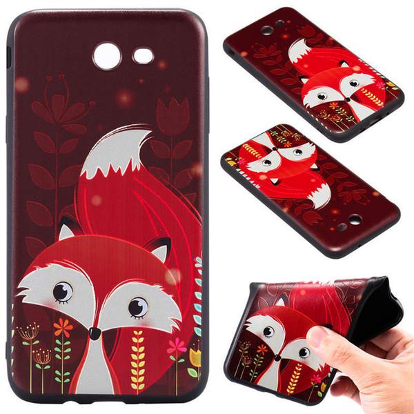 Para samsung j7 2017 eua versão venda quente 10 cores modelo preto telefone de volta caso tpu 3d relevo fosco preto phone case a046