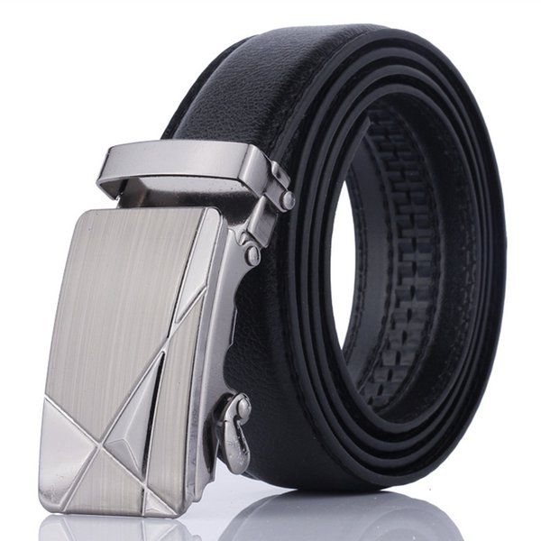 casual mens leather belts automatic belt buckle dress waist belt strap waistbelt dropshipping wholesale pd-004, Black;brown