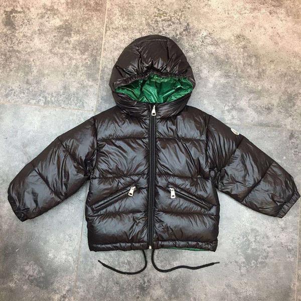 Serin 2018 Işık çocuk kış ceketler Çocuklar Ördek Aşağı Ceket Bebek kız Erkek parka Kabanlar Hoodies fermuar Coat 110-160