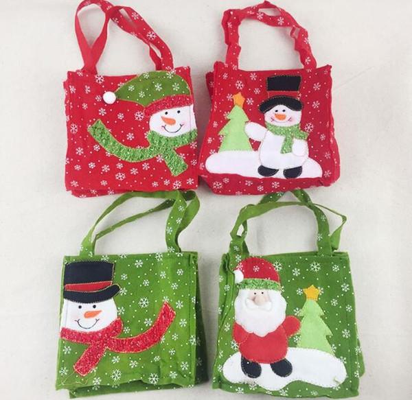 Weihnachtsgeschenk Süßigkeitstaschen Santa Claus Candy Bag Handtasche Home Party Dekoration Weihnachten Kinder Geschenkbeutel
