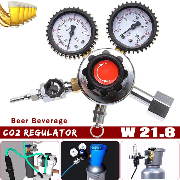 Zeast 1Pcs Dual? Gauge? CO2? Regulator? Beer? Beverage? Descompresor Home Brew Gas Bar Accessories Cerveza Dióxido de carbono Reducer