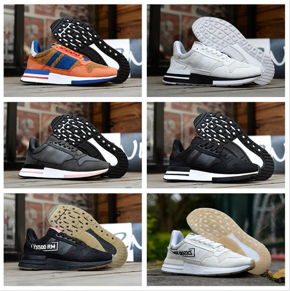 2019 New ZX500 OG Genuine Leather Mesh Breathable Running Sneakers Originals ZX500 RM Boost Cushioning Athletic Shoes