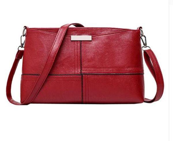 2018 new solid plaid envelope women handbag High Quality ladies crossbody messenger shoulder bags 30x18x8cm Black Red