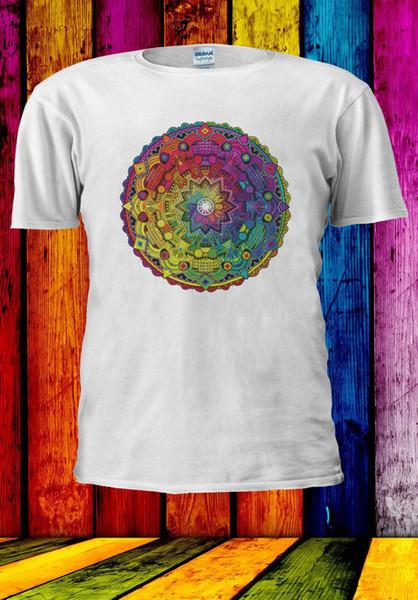 Coloured Mandala Rainbow Circle T-shirt Vest Tank Top Men Women Unisex 569 Funny free shipping Unisex Casual gift