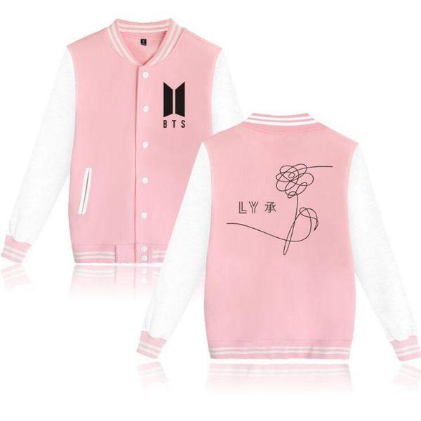 BTS KPOP Baseball Veste Manteau Hiver Hoodies Hommes Populaire Bangtan Hip Hop Harajuku Sweat Femmes Zip-up Fleece Bomber Veste