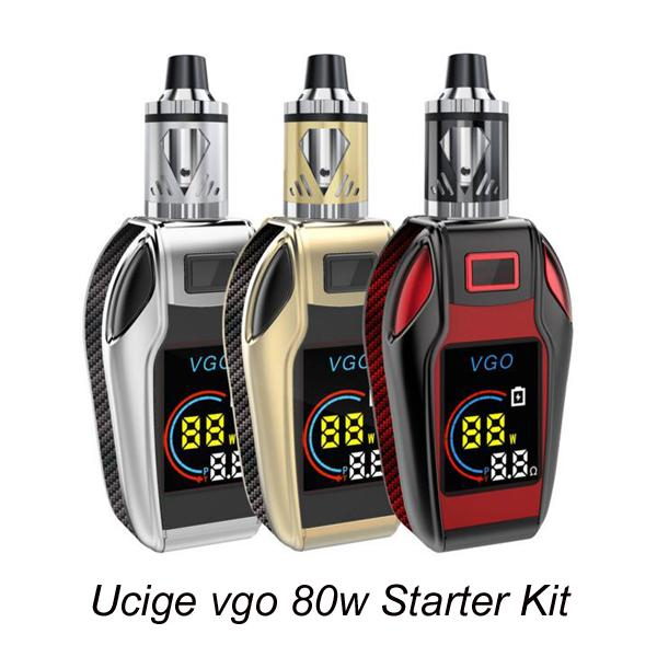 Authentic Ucige VGO 80w Starter Kit Digital Display Temperature Box Mod Built-in 4200mAh With 2ml Airflow Control Atomizer Vaporizer Kit