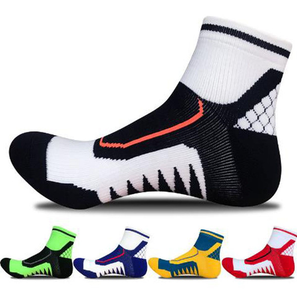 Newest men's short tubes thickening towels pure cotton professional outdoor running badminton sports socks deodorant on foot climbing run