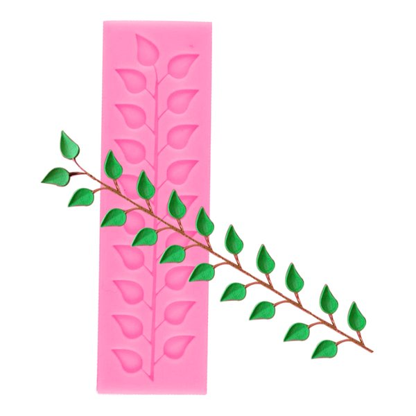 Kitchen Pastry Tool 1PC Long Strip Lace Tree Leaf Silicone Cake Mold Bread Chocolate Soap Mold Cake Stencil Baking Pan