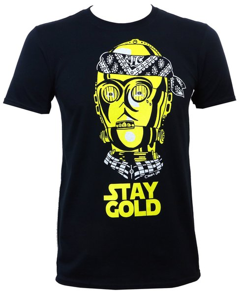 APPAREL Stay Gold Gangster Tattoo Art Street Wear T-Shirt S-3XL NEW Printed T Shirts Short Sleeve Hipster Tee